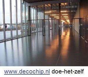 Gietvloer epoxy coating betonlook for Egaline praxis
