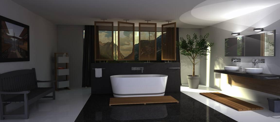 Gietvloer of coating voor de wand of vloer van uw badkamer of douche