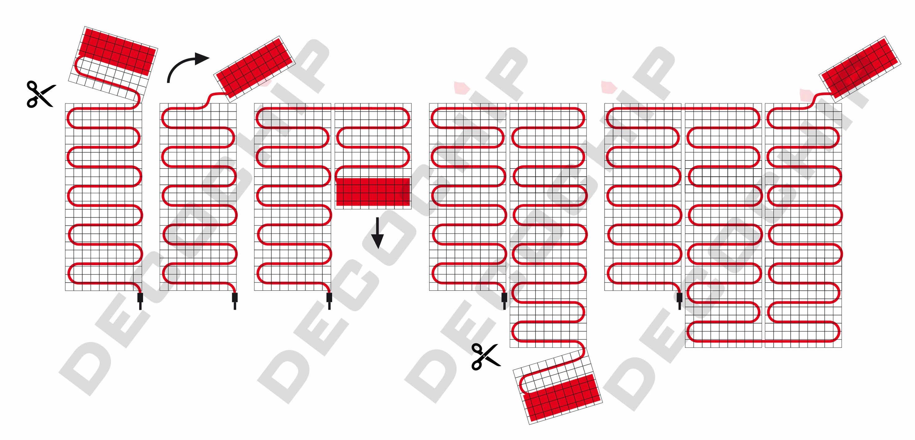 Elektrische Vloerverwarming Voor Tegel Vloeren 50 Cm Breed